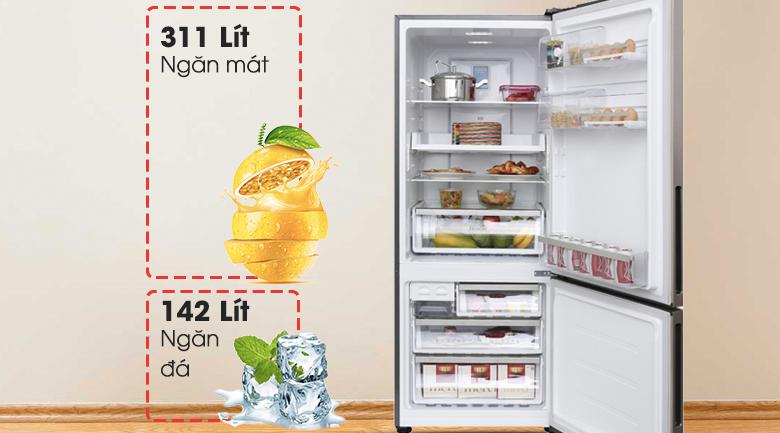 Dung tích 450 lít - Tủ lạnh Electrolux Inverter 418 lít EBE4502GA
