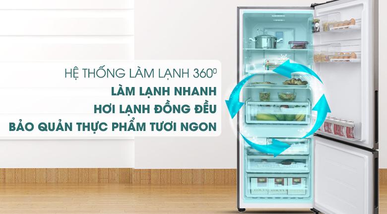 Hệ thống làm lạnh đa chiều 360 độ - Tủ lạnh Electrolux Inverter 418 lít EBE4502GA
