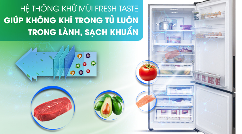 Hệ thống khử mùi Fresh Taste - Tủ lạnh Electrolux Inverter 418 lít EBE4502GA