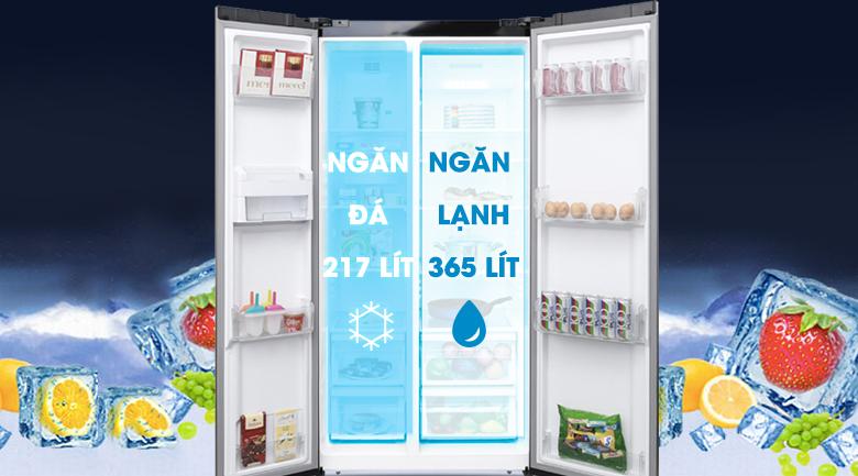 Dung tích 620 lít - Tủ lạnh Electrolux Inverter 636 lít ESE6201BG-VN