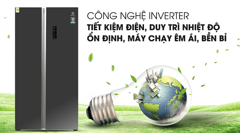 Công nghệ Inverter - Tủ lạnh Electrolux Inverter 636 lít ESE6201BG-VN
