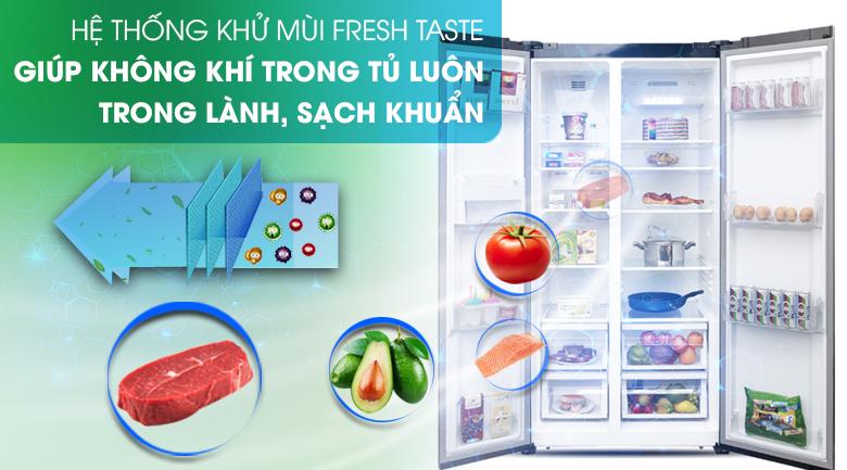 Hệ thống khử mùi Fresh Taste - Tủ lạnh Electrolux Inverter 636 lít ESE6201BG-VN