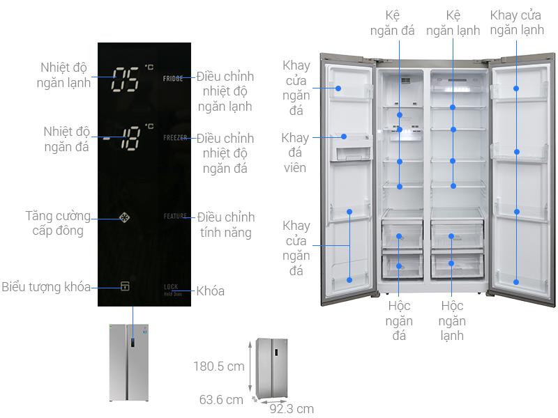 Thông số kỹ thuật Tủ lạnh Electrolux Inverter 541 lít ESE5301AG-VN