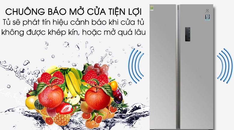 Chuông báo cửa mở - Tủ lạnh Electrolux Inverter 541 lít ESE5301AG-VN