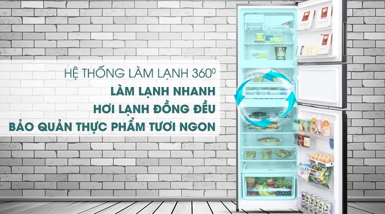 Hệ thống làm lạnh 360 độ - Tủ lạnh Electrolux Inverter 334 lít EME3500BG
