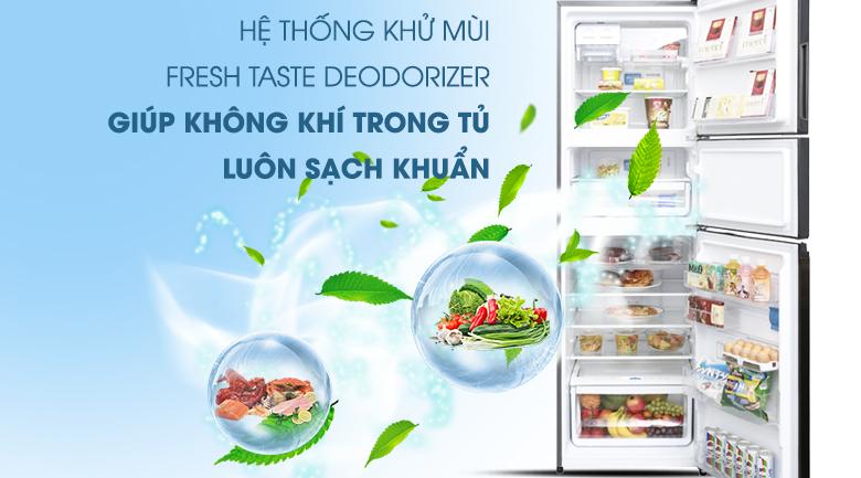Hệ thống khử mùi Fresh Taste Deodorizer - Tủ lạnh Electrolux Inverter 334 lít EME3500BG