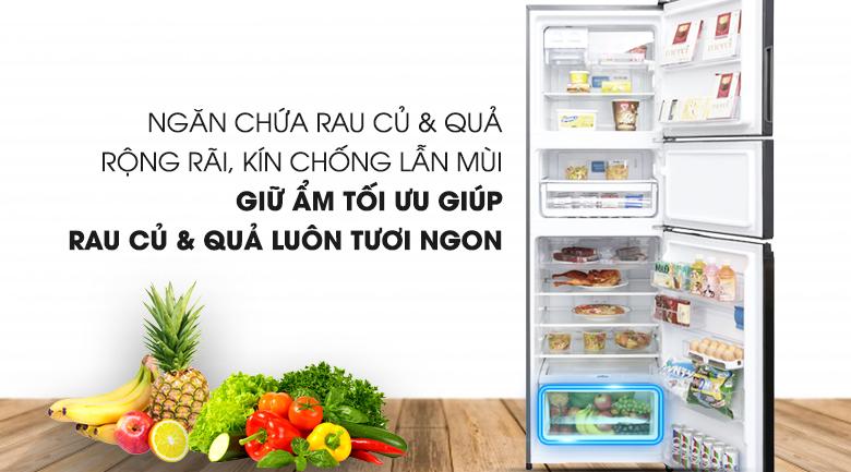 Ngăn rau củ Market Fresh - Tủ lạnh Electrolux Inverter 334 lít EME3500BG