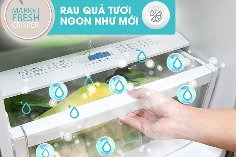 Ngăn rau củ chuyên biệt Market Fresh cung cấp độ ẩm cho rau củ hiệu quả