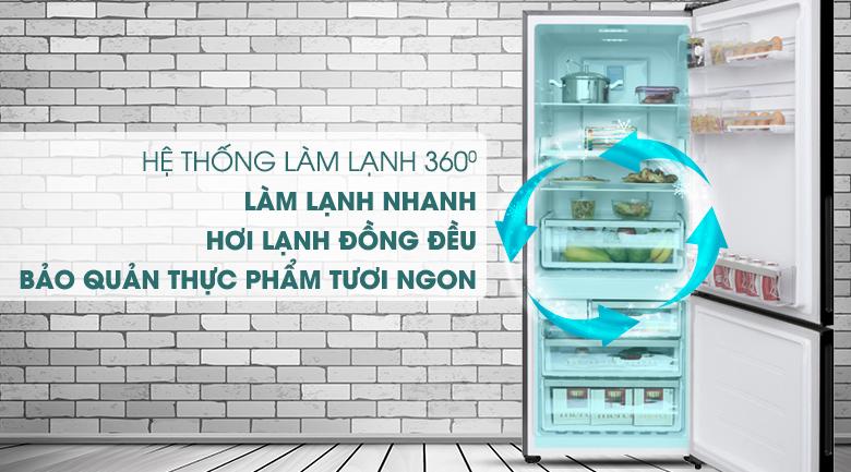 Công nghệ làm lạnh 360 độ làm lạnh thực phẩm nhanh chóng, đồng đều -Tủ lạnh Electrolux Inverter 418 lít EBE4502BA