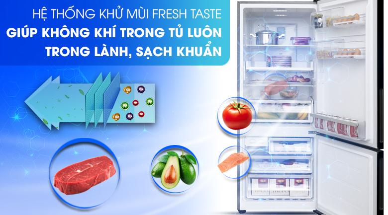 Công nghệ Deo Fresh khử sạch vi khuẩn và mùi hôi thực phẩm - Tủ lạnh Electrolux Inverter 418 lít EBE4502BA