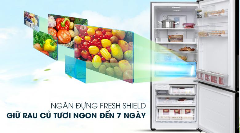 Ngăn đựng rau quả có khả năng điều chỉnh độ ẩm mới lạ - Tủ lạnh Electrolux Inverter 418 lít EBE4502BA
