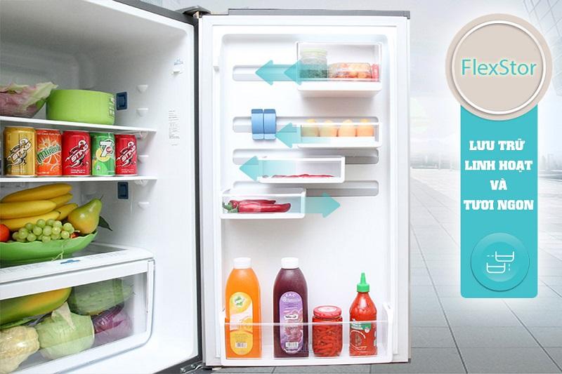 Ngăn kệ FlexStor trên cửa tủ thay đổi vị trí linh hoạt - Tủ lạnh Electrolux Inverter 418 lít EBE4502BA