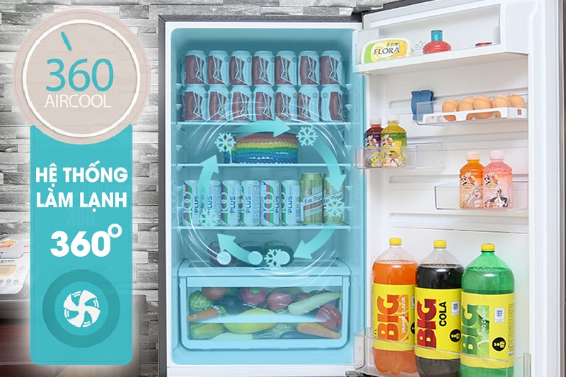Công nghệ làm lạnh 360 độ làm lạnh thực phẩm nhanh chóng, đồng đều