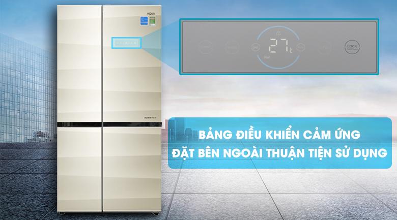 Bảng điều khiển cảm ứng thông minh - Tủ lạnh Aqua 565 lít AQR-IG585AS SG