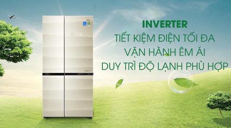 Inverter - Tủ lạnh Aqua 565 lít AQR-IG585AS SG