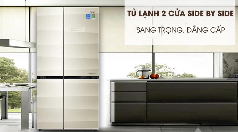 Thiết kế - Tủ lạnh Aqua Inverter 565 lít AQR-IG585AS SG