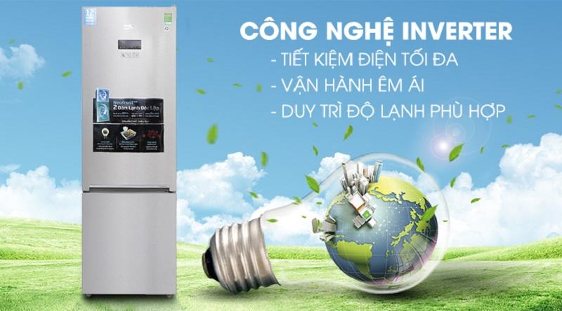 Tích hợp công nghệ Inverter - Tủ lạnh Beko Inverter 375 lít RCNT375E50VZX