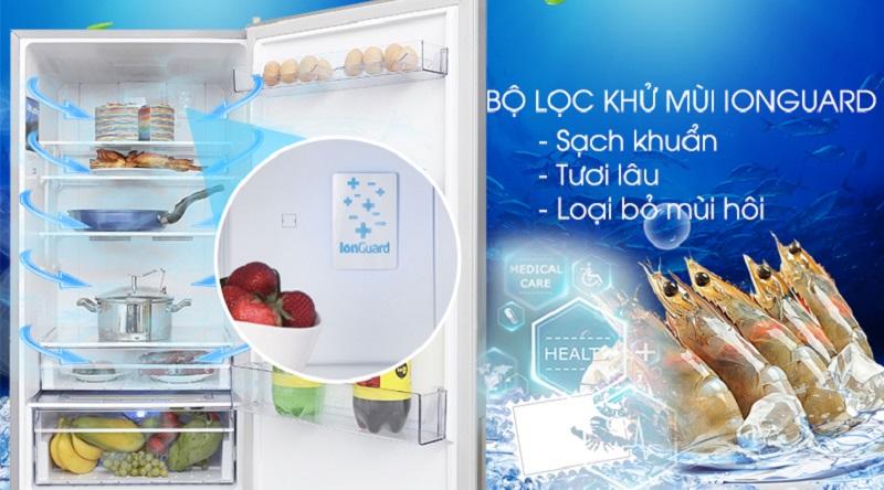 Đánh bay mùi hôi, vi khuẩn với công nghệ Longuard - Tủ lạnh Beko Inverter 375 lít RCNT375E50VZX