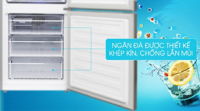 Các ngăn thiết kế khép kín, hạn chế lẫn mùi - Tủ lạnh Beko Inverter 375 lít RCNT375E50VZX