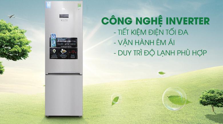 Công nghệ Inverter - Tủ lạnh Beko Inverter 340 lít RCNT340E50VZX