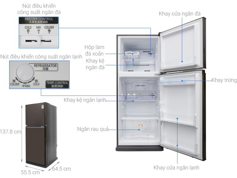 Thông số kỹ thuật Tủ lạnh Mitsubishi Electric Inverter 206 lít MR-FV24EM-BR-V