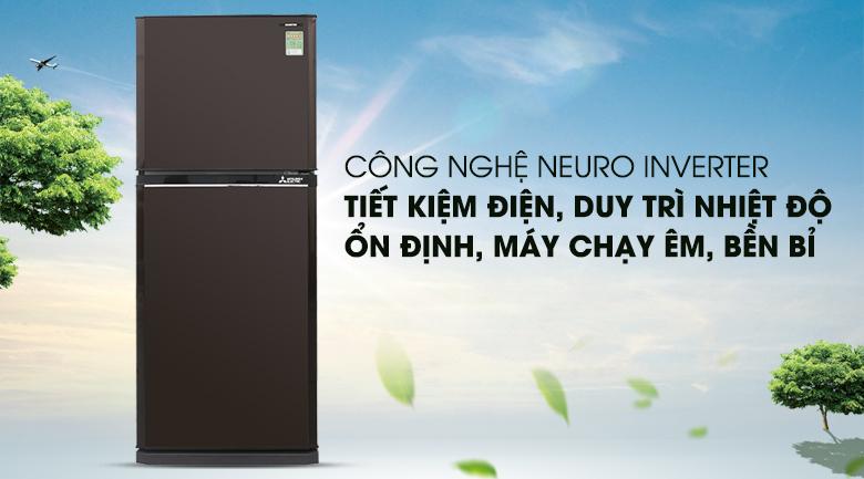 Vận hành êm ái, bền bỉ với công nghệ Nuero Inverter - Tủ lạnh Mitsubishi Electric Inverter 206 lít MR-FV24EM-BR-V