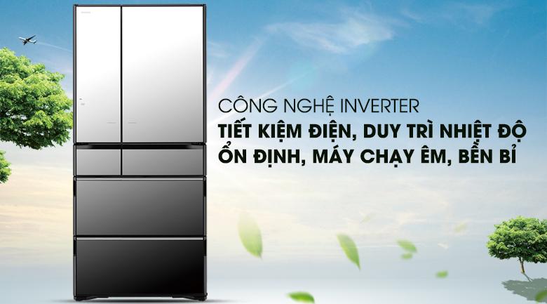 Công nghệ Inverter vận hành ổn định, bền bỉ - Tủ lạnh Hitachi Inverter 722 lít R-X670GV (X)