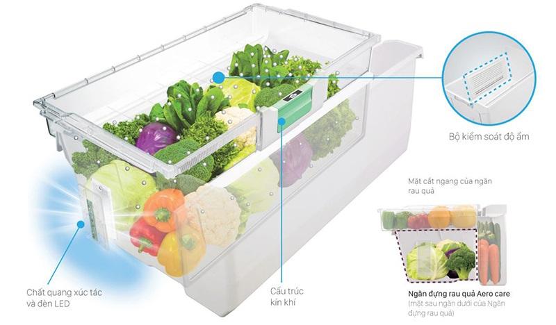 Công nghệ bảo quản rau quả Aero-care giúp rau củ luôn mọng nước