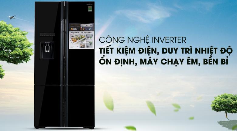 Tích hợp công nghệ Inverter ưu việt - Tủ lạnh Hitachi Inverter 587 lít R-WB730PGV6X GBK