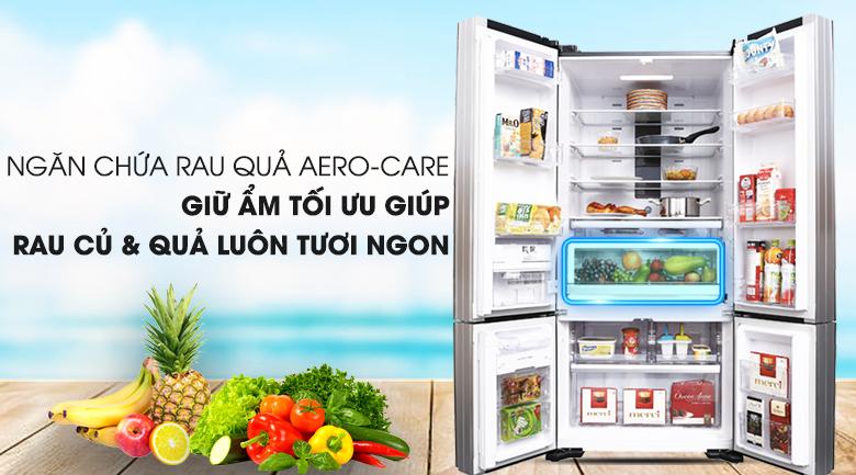 Trang bị ngăn chứa rau củ quả - Tủ lạnh Hitachi Inverter 587 lít R-WB730PGV6X GBK