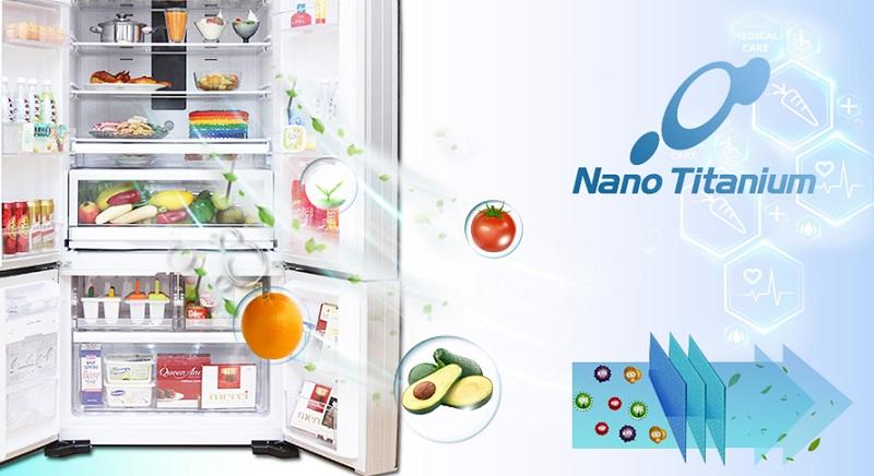 Tủ lạnh Hitachi 587 lít R-WB730PGV6X GBK – Công nghệ kháng khuẩn