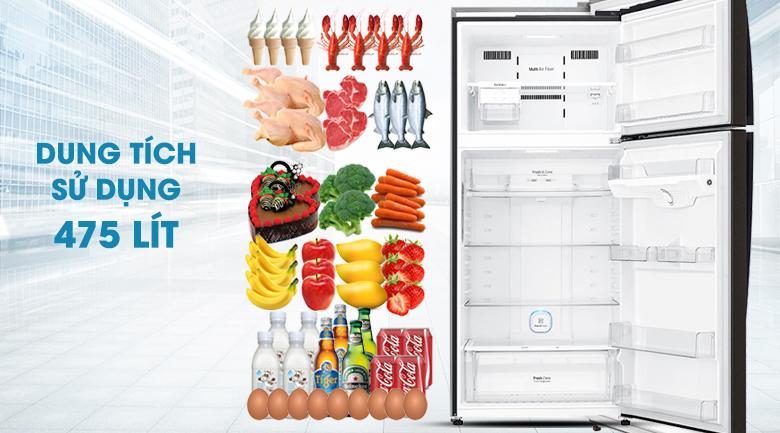 Tủ lạnh LG Inverter 506 lít GN-L602BL - Dung tích