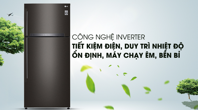 Vận hành êm ái, bền bỉ, và tiết kiệm điện năng hơn với công nghệ Inverter - Tủ lạnh LG Inverter 506 lít GN-L602BL
