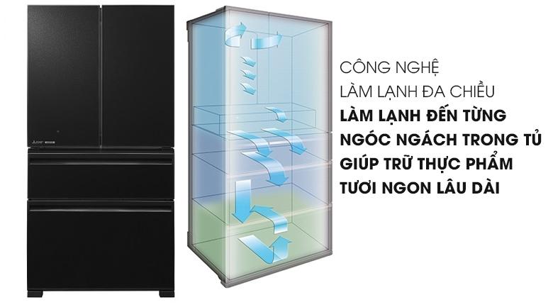 Công nghệ làm lạnh đa chiều - Tủ lạnh Mitsubishi Electric Inverter 564 lít MR-LX68EM-GBK-V