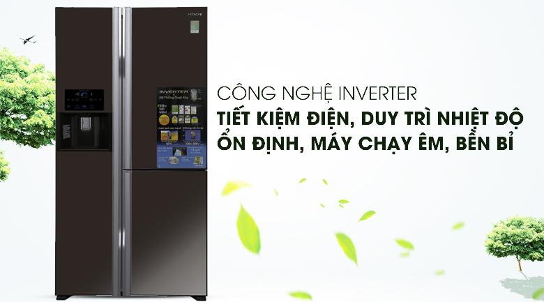Công nghệ Inverter hiện đại, vận hành êm ái - Tủ lạnh Hitachi Inverter 584 lít R-M700GPGV2X MBW