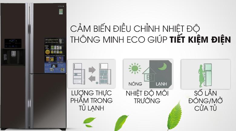 Trang bị cảm biến thông minh Eco - Tủ lạnh Hitachi Inverter 584 lít R-M700GPGV2X MBW