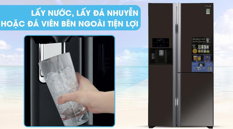Ngăn lấy nước bên ngoài - Tủ lạnh Hitachi Inverter 584 lít R-M700GPGV2X MBW
