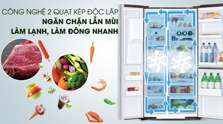 Hệ thống 2 dàn lạnh độc lập - Tủ lạnh Hitachi Inverter 584 lít R-M700GPGV2X MBW