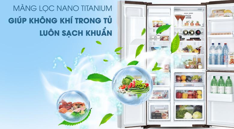 Màng lọc Nano Titanium kháng khuẩn hiệu quả - Tủ lạnh Hitachi Inverter 584 lít R-M700GPGV2X MBW