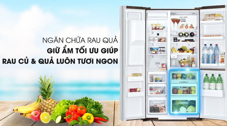 Ngăn rau củ quả tiện lợi - Tủ lạnh Hitachi Inverter 584 lít R-M700GPGV2X MBW