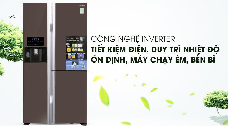 Công nghệ Inverter - Tủ lạnh Hitachi Inverter 584 lít R-M700GPGV2X