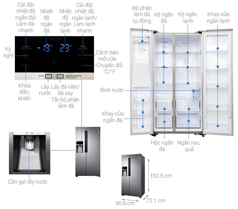 Thông số kỹ thuật Tủ lạnh Samsung Inverter 575 lít RS58K6417SL/SV