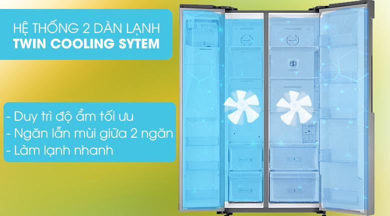 Twin Cooling Plus - Tủ lạnh Samsung Inverter 575 lít RS58K6417SL/SV