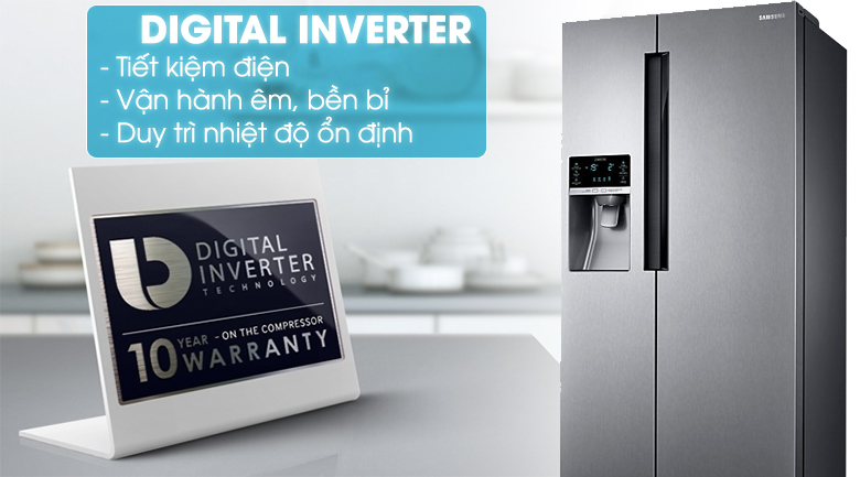 Công nghệ Inverter - Tủ lạnh Samsung Inverter 575 lít RS58K6417SL/SV