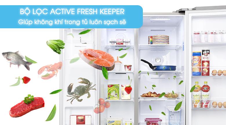 Bộ lọc Active Fresh Keeper - Tủ lạnh Samsung Inverter 575 lít RS58K6417SL/SV