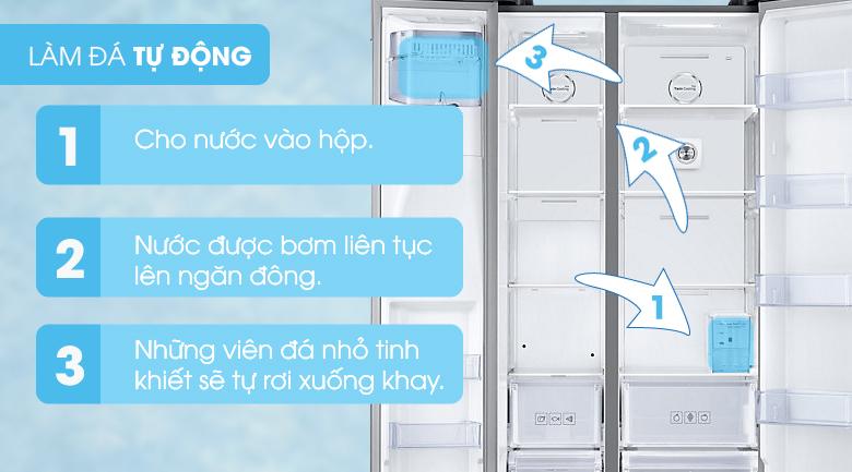 Làm đá tự động - Tủ lạnh Samsung Inverter 575 lít RS58K6417SL/SV
