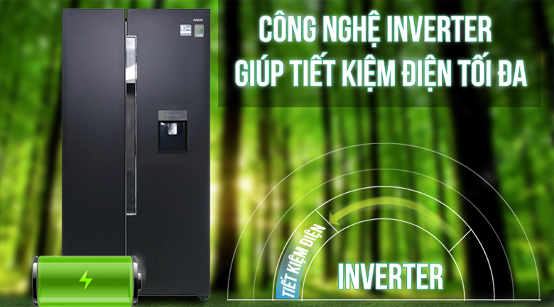 Inverter - Tủ lạnh Aqua Inverter 557 lít AQR-I565AS BS