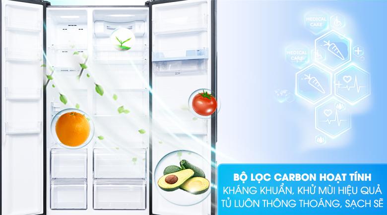 Bộ lọc Carbon hoạt tính - Tủ lạnh Aqua Inverter 557 lít AQR-I565AS BS