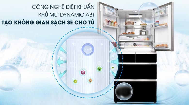 Công nghệ Dynamic ABT - Tủ lạnh Aqua Inverter 553 lít AQR-IG686AM GB