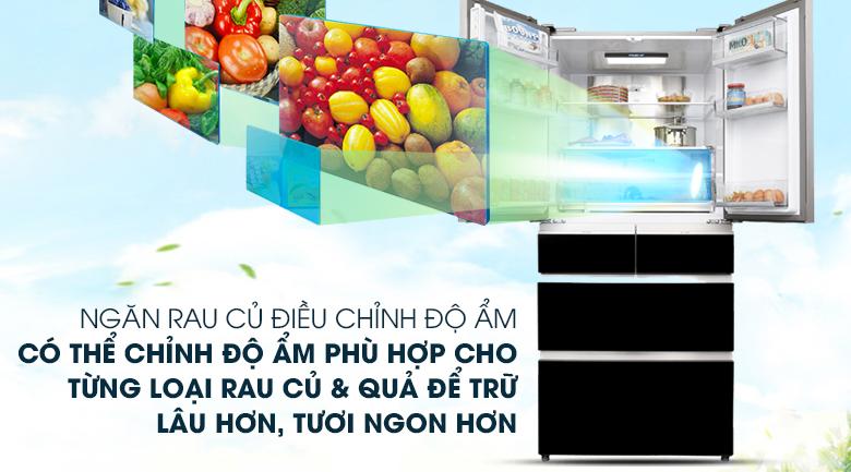 Ngăn điều chỉnh độ ẩm - Tủ lạnh Aqua Inverter 553 lít AQR-IG686AM GB